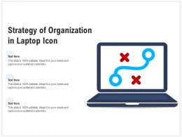 Strategy Of Organization In Laptop Icon
