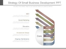 Strategy Of Small Business Development Ppt