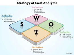 Strategy of Swot Analysis side view shown flat powerpoint diagram templates graphics 712