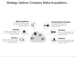Strategy Options Company Make Acquisitions Additional Strategic Partnerships