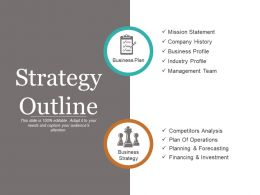 Strategy Outline Powerpoint Presentation
