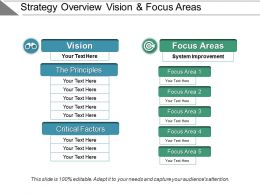 Strategy Overview Vision And Focus Areas Ppt Slide Template