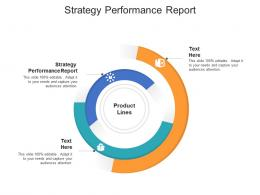 Strategy Performance Report Ppt Powerpoint Presentation Icon Graphics Pictures Cpb