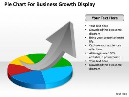 Strategy Pie Chart For Business Growth Display Powerpoint Templates PPT Backgrounds Slides 0618