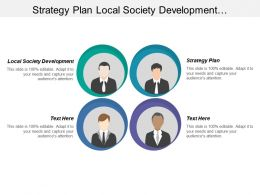 Strategy Plan Local Society Development Demanding Economic Environment