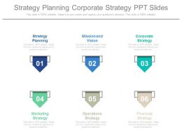 Strategy Planning Corporate Strategy Ppt Slides