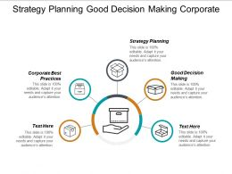 Strategy Planning Good Decision Making Corporate Best Practices Cpb