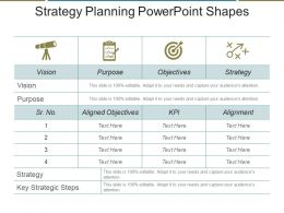 Strategy Planning Powerpoint Shapes