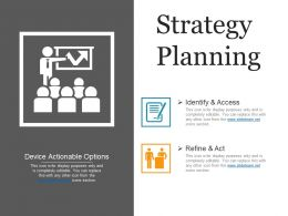 Strategy Planning Presentation Visuals