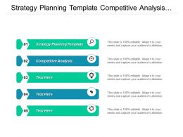 Strategy Planning Template Competitive Analysis Strategic Management External Environment Cpb