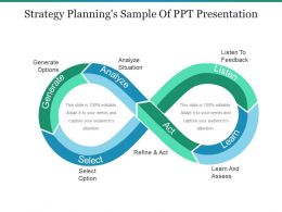 Strategy Plannings Sample Of Ppt Presentation