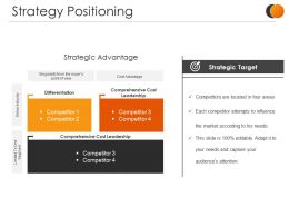 Strategy Positioning Ppt Sample Presentations