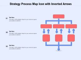 Strategy Process Map Icon With Inverted Arrows