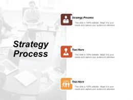 Strategy Process Ppt Powerpoint Presentation Gallery Influencers Cpb