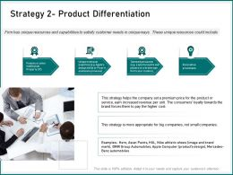 Strategy Product Differentiation Small Companies Ppt Powerpoint Presentation Samples