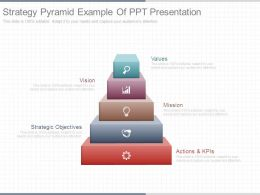 Strategy Pyramid Example Of Ppt Presentation