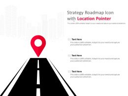 Strategy Roadmap Icon With Location Pointer