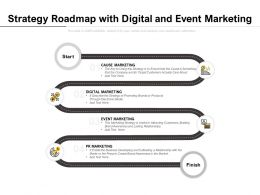 Strategy Roadmap With Digital And Event Marketing