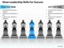 Strategy Show Leadership Skills For Success Powerpoint Templates PPT Backgrounds Slides 0617