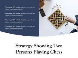 Strategy Showing Two Persons Playing Chess