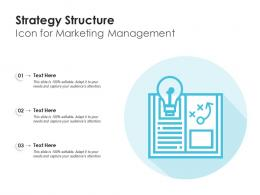 Strategy Structure Icon For Marketing Management