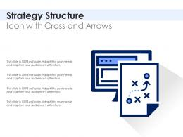 Strategy Structure Icon With Cross And Arrows