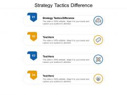 Strategy Tactics Difference Ppt Powerpoint Presentation Ideas Design Inspiration Cpb