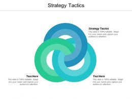 Strategy Tactics Ppt Powerpoint Presentation Infographic Template Demonstration Cpb