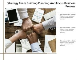 Strategy Team Building Planning And Focus Business Process