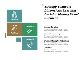 Strategy Template Dimensions Learning Decision Making Model Business Cpb