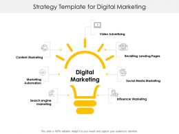 Strategy Template For Digital Marketing