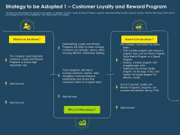 Strategy To Be Adopted 1 Customer Loyalty And Reward Program Ppt Icons