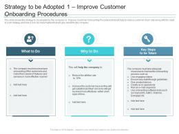 Strategy To Be Adopted 1 Improve Customer Onboarding Procedures Reasons High Customer Attrition Rate