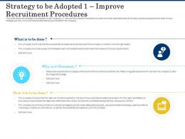 Strategy To Be Adopted 1 Improve Recruitment Procedures Shortage Of Skilled Labor Ppt Images