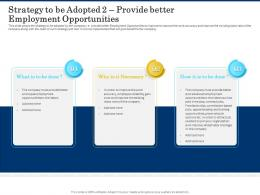 Strategy To Be Adopted 2 Provide Better Employment Opportunities Shortage Of Skilled Labor Ppt Design