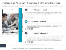 Strategy To Be Adopted Efforts Personalize The Customer Experience Ppt Information