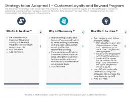 Strategy To Be Adopted Must Customer Loyalty And Reward Program Ppt Information
