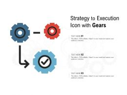 Strategy To Execution Icon With Gears