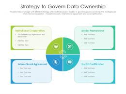 Strategy To Govern Data Ownership