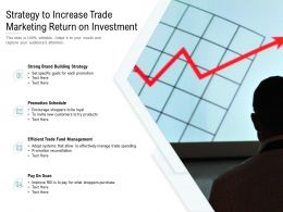 Strategy To Increase Trade Marketing Return On Investment