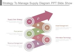 Strategy To Manage Supply Diagram Ppt Slide Show