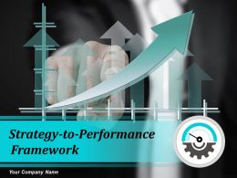 Strategy To Performance Framework Powerpoint Presentation Slides