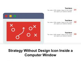 Strategy Without Design Icon Inside A Computer Window
