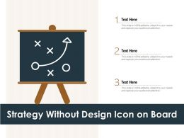Strategy Without Design Icon On Board