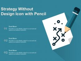 Strategy Without Design Icon With Pencil