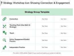 Strategy Workshop Icon Showing Connection And Engagement