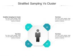 Stratified Sampling Vs Cluster Ppt Powerpoint Presentation Infographic Template Show Cpb