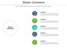 Stream Commerce Ppt Powerpoint Presentation Infographic Template Icon Cpb