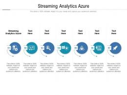 Streaming Analytics Azure Ppt Powerpoint Presentation Infographics Outfit Cpb
