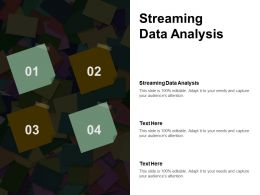 Streaming Data Analysis Ppt Powerpoint Presentation Show Microsoft Cpb